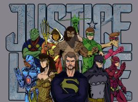 Justice League by BarabaKing
