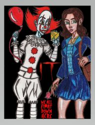 Pennywise and Belle by StandingonClouds