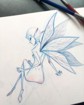 Blue Pixie Sketch by Sketch-Geek