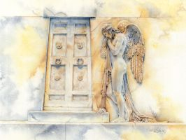Angel at the Gate by ForestEdgeFineArt
