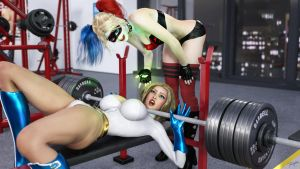 Power Girl in Power Workout 2 by tiangtam