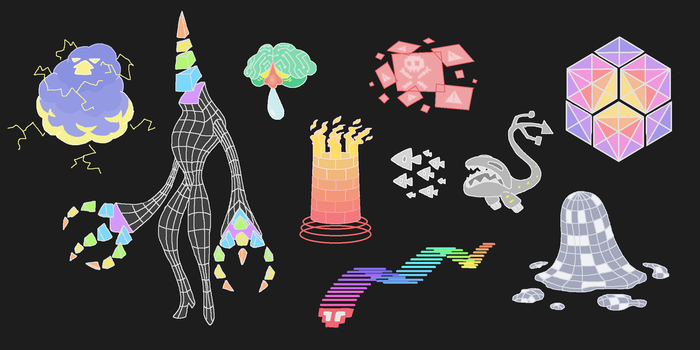 Creature doodles: cyberspace by JWNutz