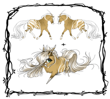 [CLOSED AUCTION] Unicorn Design + Chibi by xX-LamiaLuna-Xx