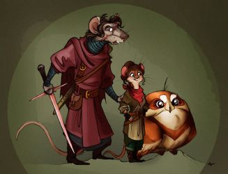 AG-trio in Redwall style. by FortunataFox