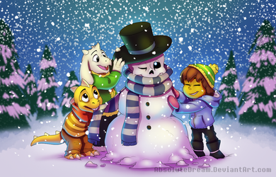 Sansy the snowman by AbsoluteDream