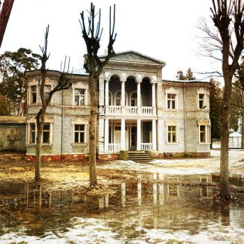 old mansion by acquamarine