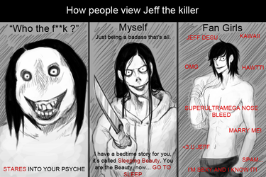 People's view of Jeff the killer by SUCHanARTIST13