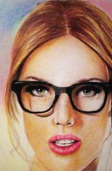 Glasses Portrait by AngeleaMarie
