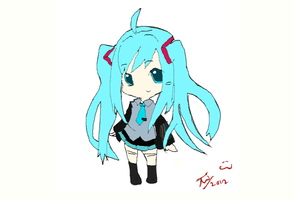 Miku Lineart Coloring by Petpettails123