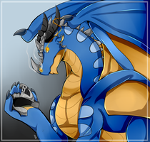 Blue Dragon by FanDragonBrigitha