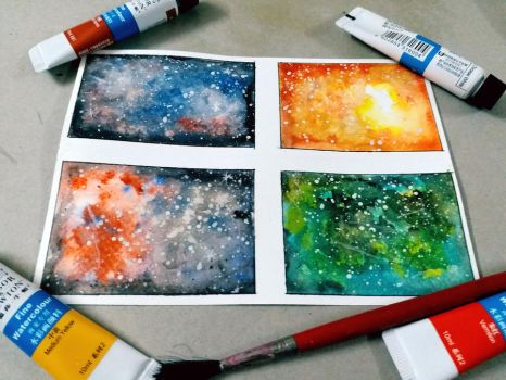 Abstract Galaxy try by DoodleWithJoy