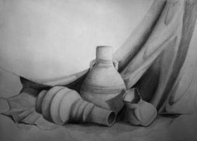 Middle eastern plane pottery by Sherif-Shawer