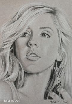 Ellie Goulding the first... by Sabine-S-Art