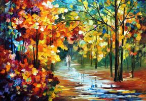 Colorful Forest by Leonid Afremov by Leonidafremov