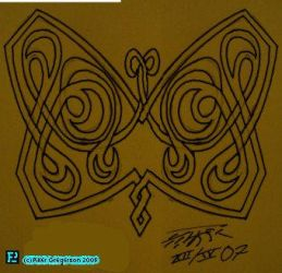 Celtic Knot, Butterfly by Faux-Pseudo