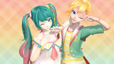 [MMD]Twinkle Star and Radical Star by SheepyAries
