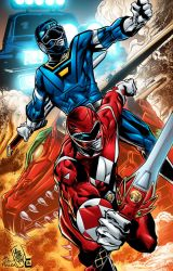 Go Go Power Rangers by ColorDojo
