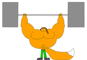 Bronson Morgan Working Out With Weights by NitroactiveStudios
