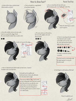 How to draw hair? ENG by Yakovlev-vad
