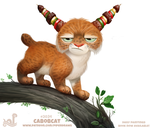 Daily Paint 2034# Cabobcat by Cryptid-Creations