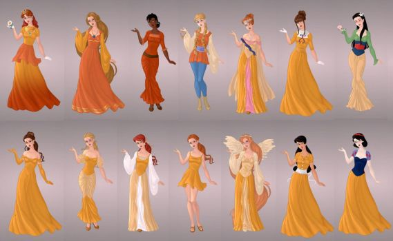 Animated Ladies  In Gold by autumnrose83