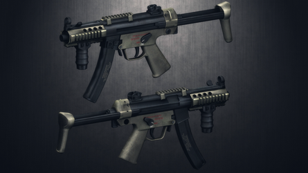 [MMD] HK MP5K (ripped)(WIP) by AbyssLeo
