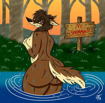 A Refreshing Dip by UncleScooter