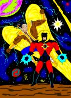 King Falcon and Cosmic Star by GalaxyZento