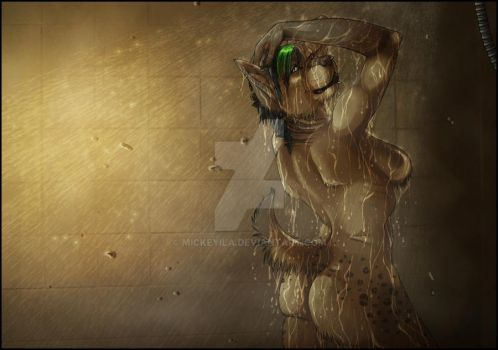 Steamy Shower - old by Mickeyila