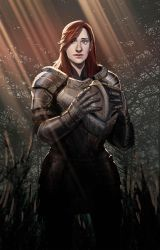 Lady Knight speedpaint by axl99