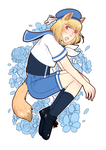 blue flowers by xCastra