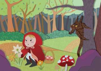 Little Red Riding Hood - Summer by christina-masci-art