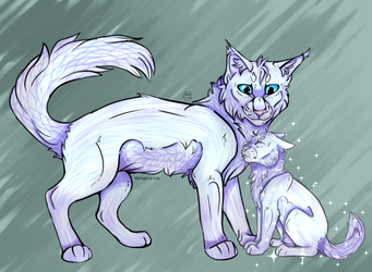 Cloudtail and Snowkit (complete) by Midnight-is-Life