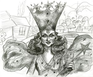 Caricature ofBillie Burke as Glinda the Good Witch by Caricature80