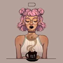 Coffee time! [gif] by HetteMaudit