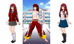 3 cosplays Erza by erza51rock