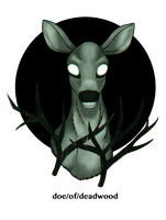 doe in the headlights by JiiBee