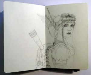 Sketchbook - Steampunk inspiration ! by Alodix