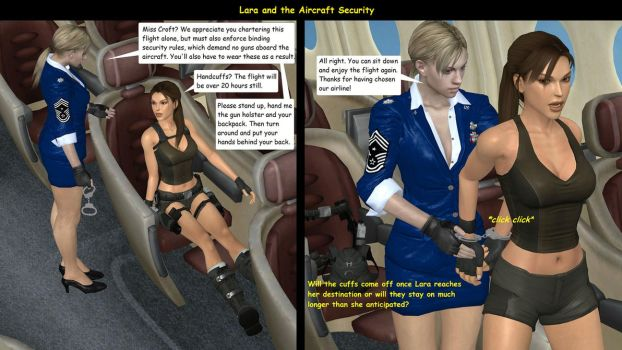 Lara and the Aircraft Security 01 by honkus2