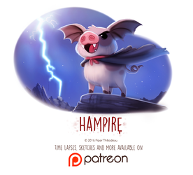 Day 1439. Hampire by Cryptid-Creations