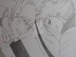 Ichigo VS Grimmjow by Loverke