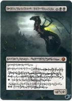 MTG Altered Card_Skithiryx, the Blight Dragon by GhostArm1911