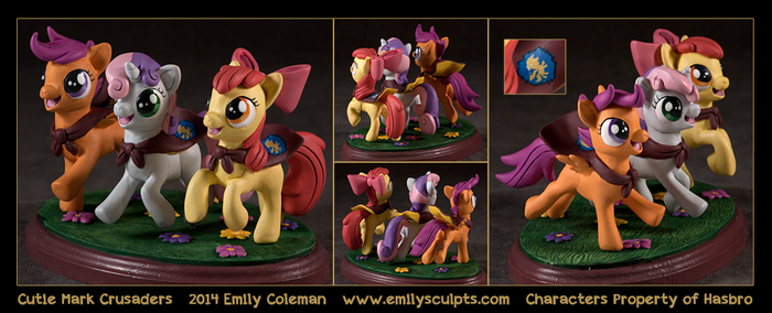 Commission : Cutie Mark Crusaders by emilySculpts