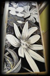 Flowers in glass mosaic by Artmoment-Rus