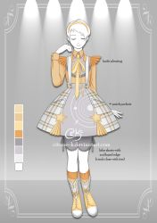 (OPEN) Tartan Star: Adoptable Outfit #3 by Citrine-K