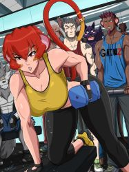 Distraction at the Gym by Ninja-8004