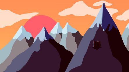 Mountain Background (Sunset) by Crispface