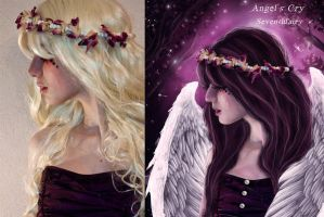 Angel's cry before and after by SeventhFairy