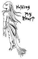 Holding My Heart - Ink by Drachis