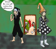 Medusa's and Eruka's Clothes by DemonEyeFree